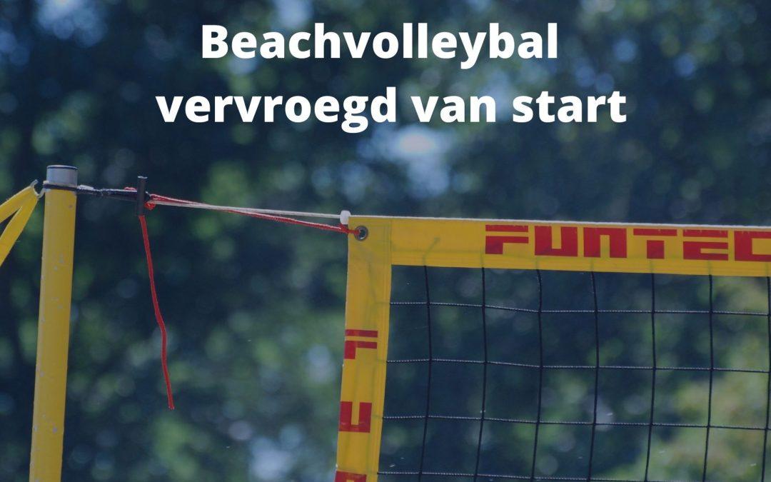 Beachvolleybal seizoen vervroegd gestart