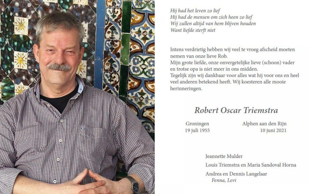 Rob Triemstra overleden